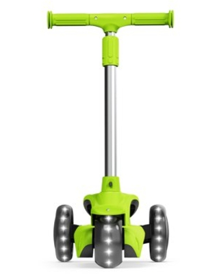 Jetson LUMI 3 Wheel Light-Up Kick Scooter - Max Grip Light Up Deck and PVC Wheels- Adjustable Height Ages 3+, Green