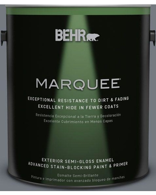BEHR MARQUEE 1 gal. #N510-5 Liquid Mercury color Semi-Gloss Enamel Exterior Paint and Primer in One