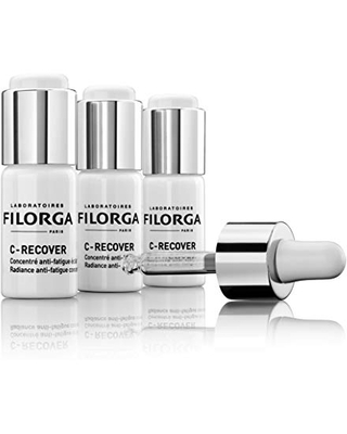 Laboratoires Filorga C-Recover Vitamin C Serum   Radiance Boosting Concentrate for Anti-Fatigue, Anti-Aging & Hydration   Pack of 3