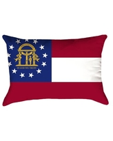 Deals On Centers Connecticut Flag Pillow In Faux Suede Double Sided Print Lumbar Pillow East Urban Home