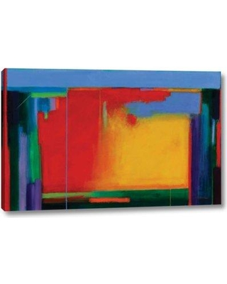 """George Oliver 'Color Vibes' by Gary Max Collins Giclee Art Print on Wrapped Canvas CJ100927 Size: 15"""" H x 24"""" W x 1.5"""" D"""