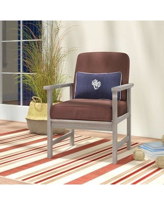 Beachcrest Home Englewood Patio Chair with Cushions BCMH3114 Cushion Color: Cappucino
