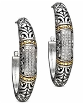 Balissima by Effy Diamond Hoop Earrings (1/4 ct. t.w.) in 18k Gold and Sterling Silver - Sterling Silver/Gold