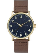 Men's Easy Read Strap Watch - Goodfellow & Co Brown
