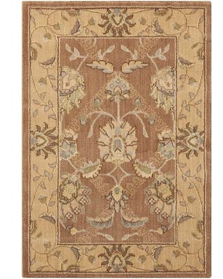 Dowdell Handwoven Wool Mocca Area Rug Charlton Home Rug Size: Rectangle 2' x 2'9""
