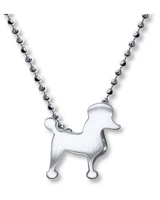 ecaed0221 Amazing Deal on Alex Woo Poodle Necklace Sterling Silver
