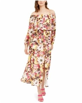 Inc Off-The-Shoulder Floral-Print Maxi Dress, Created for Macy's - Yellow Multi
