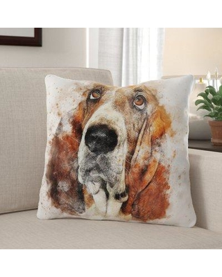 Winston Porter Eldredge Dog Throw Pillow W001293751 Cover Material: Microsuede Location: Indoor