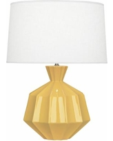 Robert Abbey Orion Sunset Yellow Ceramic Table Lamp