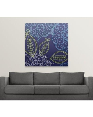 """Great Big Canvas 'Blue Medallions II' by Mary Jones Designs Graphic Art Print 2218944_ Size: 8"""" H x 8"""" W x 1.5"""" D Format: Canvas"""