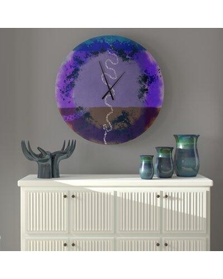 East Urban Home Oversized Aston Wall Clock X113330796 Size: Large