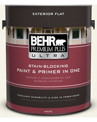 BEHR Premium Plus Ultra 1 gal. #bwc-04 Beach House Flat Exterior Paint and Primer in One