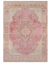 Carina Synthetic Rug, 9.3 x 11.10', Pink Multi