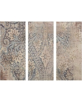 Alcott Hill Weathered Damask Walls Graphic Art on Wrapped Canvas ALCT7497
