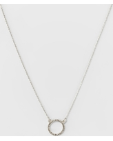 Pave Open Circle Short Necklace - A New Day Silver