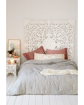 Grand Sienna Headboard - White One Size at Urban Outfitters