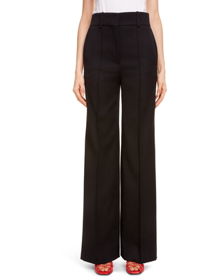 Women's Givenchy High Waist Wide Leg Pants, Size 6 US - Black