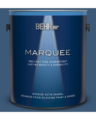 BEHR MARQUEE 1 gal. #ICC-85 China Pattern Satin Enamel Interior Paint and Primer in One