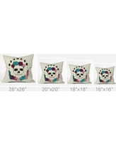 """Deny Designs Wesley Bird Live Forever Throw Pillow 39336-thrpi Size: 26"""" H x 26"""" W x 7"""" D"""
