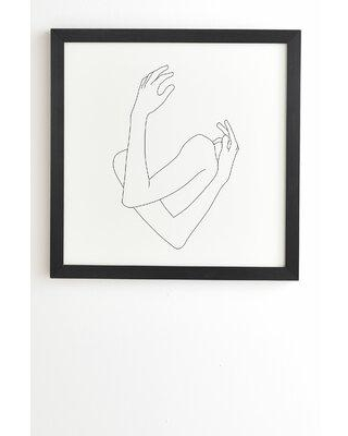 East Urban Home 'The Color Study Crossed Arms Illustration Jill' Framed Print X112508410