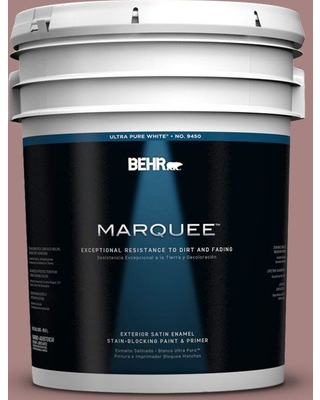 BEHR MARQUEE 5 gal. #700B-4 Muse Satin Enamel Exterior Paint and Primer in One