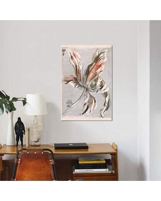 """East Urban Home 'Flowers V' Graphic Art Print on Canvas EBHS8538 Size: 40"""" H x 26"""" W x 0.75"""" D"""