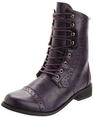 2 Lips Too Women's Too Liberty Ankle Boot,Purple,8 M US