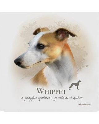"""Trademark Fine Art 'Whippet' Graphic Art Print on Wrapped Canvas ALI24097-C Size: 35"""" H x 35"""" W x 2"""" D"""