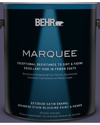 BEHR MARQUEE 1 gal. #650F-7 Violet Eclipse Satin Enamel Exterior Paint and Primer in One