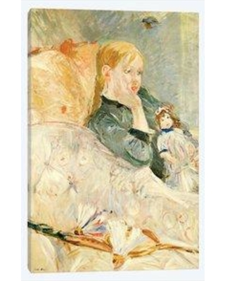 """East Urban Home 'Young Girl With A Doll 1896' Graphic Art Print on Wrapped Canvas EBHS0417 Size: 26"""" H x 18"""" W x 1.5"""" D"""