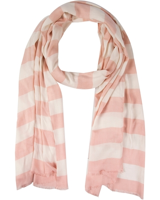 Women's Kate Spade New York Orchard Stripe Oblong Scarf, Size One Size - Pink
