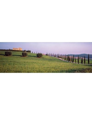 "East Urban Home Countryside Landscape Pienza Siena Province Tuscany Region Italy Photographic Print on Wrapped Canvas ESHM9257 Size: 16"" H x 48"" W x 1.5"" D"