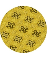 Shop Deals For Carrie Ann Geometric Yellow Gray Area Rug Ebern Designs Rug Size Round 4