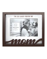 New View Brown Sentiment Frame- Boxed Word Frame, Mom