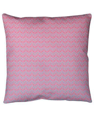 """Ebern Designs Leffel Art Deco Floor Pillow, Polyester/Polyfill/Synthetic in Pink/Blue Ombre, Size 36"""" x 36"""" 