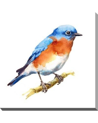 """Charlton Home 'Bird' Watercolor Painting Print on Wrapped Canvas BI092307 Size: 24"""" H x 24"""" W x 1.5"""" D"""