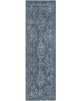"World Menagerie Wilkins Hand-Tufted Gray/Blue Indoor Area Rug WRMG1790 Rug Size: Runner 2'3"" x 8'"