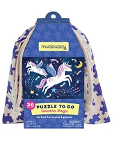 Mudpuppy Unicorn Magic to Go Puzzle, 36 Pieces, Ages 3+, Travel-Friendly Bag, Made with Safe, Non-Toxic Materials, Multicolor (735356947)