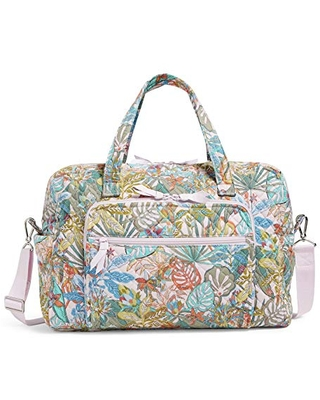 Vera Bradley Women's Weekender Travel Bag, Rain Forest Canopy-Recycled Cotton, One Size