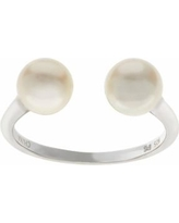 PearLustre by Imperial Sterling Silver Freshwater Cultured Pearl Open Ring, Women's, Size: 7, White