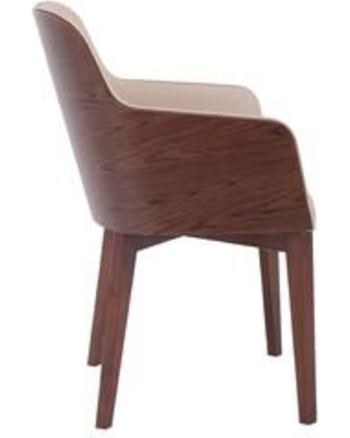 Nuans Hudson Upholstered Dining Chair 125-CN9-WB Color: Cream