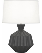 "Robert Abbey Orion 17 3/4""H Matte Ash Ceramic Accent Lamp"