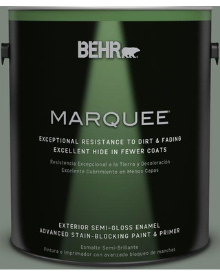 BEHR MARQUEE 1 gal. #N410-5 Village Green Semi-Gloss Enamel Exterior Paint and Primer in One