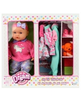 Dream Collection 14 Inch My Lil Wardrobe Baby Doll Set - Multi