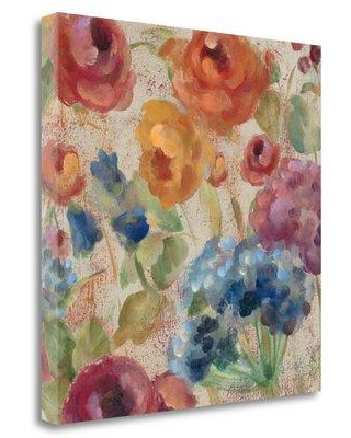 "Tangletown Fine Art 'April Rain Flowers III' by Silvia Vassileva Painting Print on Wrapped Canvas WA613691-2020c Size: 20"" H x 20"" W"