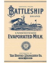"Buyenlarge 'Battleship Brand Unsweetened Evaporated Milk' Vintage Advertisement 0-587-33614-5 Size: 36"" H x 24"" W x 1.5"" D"