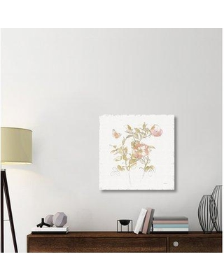 """East Urban Home 'Watery Blooms V' Print on Canvas ERBR1910 Size: 30"""" H x 30"""" W x 1.5"""" D"""