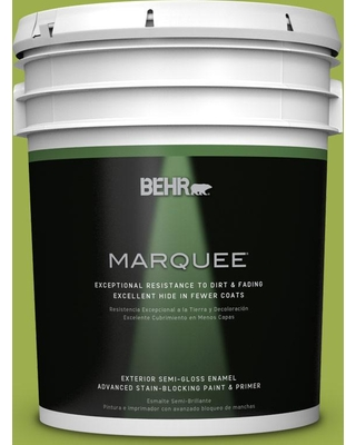 BEHR MARQUEE 5 gal. #PPU10-05 Intoxication Semi-Gloss Enamel Exterior Paint and Primer in One