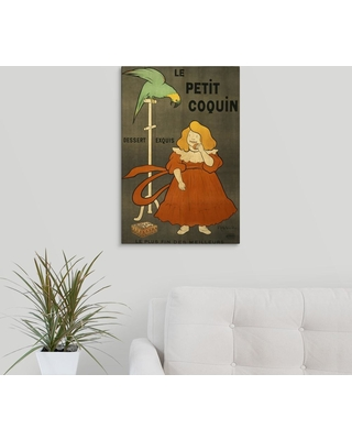 "GreatBigCanvas ""Le Petit Coquin - Vintage Biscuit Advertisement""by Vintage Apple Collection Canvas Wall Art, Multi-Color"
