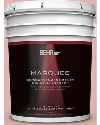 BEHR MARQUEE 5 gal. #S160-2 Pink Quartz Flat Exterior Paint and Primer in One